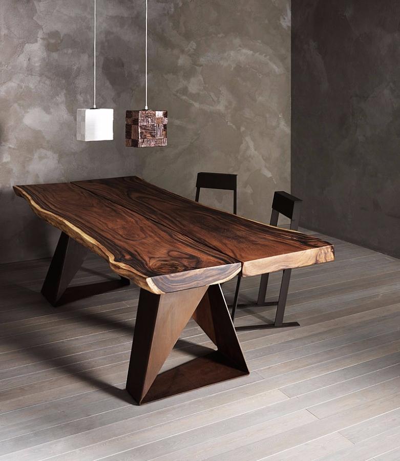 Tavolo elite tavolo in legno massiccio rettangolari fissi - Piano tavolo legno ...