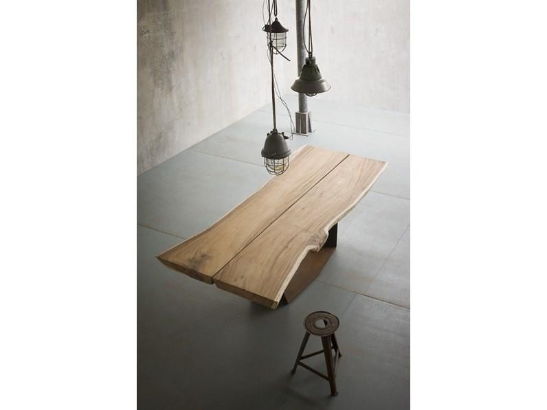 Tavolo Elite TO BE in legno massiccio E CORTEN scontato