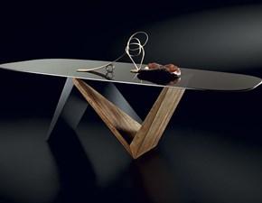 Tavolo ellittico a cavalletto Enne Nature design scontato