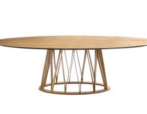 Tavolo ellittico con basamento centrale Acco Miniforms scontato