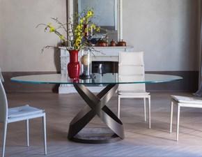 Tavolo ellittico con basamento centrale Capri Tonin casa scontato