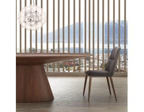 Tavolo ellittico in legno Meridiana La seggiola in Offerta Outlet