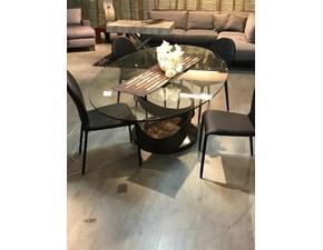 Tavolo ellittico in vetro Capri Tonin casa in Offerta Outlet