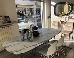 Tavolo ellittico in vetro Cross Ozzio in Offerta Outlet