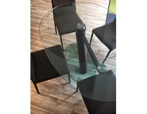 Tavolo ellittico in vetro One Ozzio in Offerta Outlet