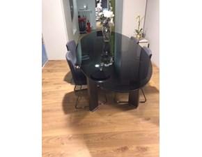 Tavolo ellittico in vetro Taul Misuraemme in Offerta Outlet