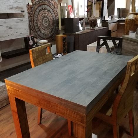outlet tavolo essential allungabile stone in offerta in legno e crash bambu miele