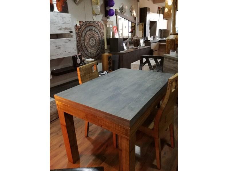 tavolo essential allungabile stone in offerta in legno e crash bambu miele