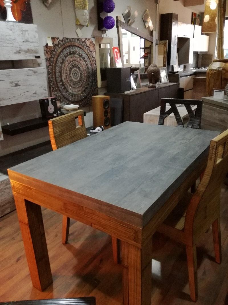 Tavolo essential allungabile stone in offerta in legno e for Offerta tavolo allungabile