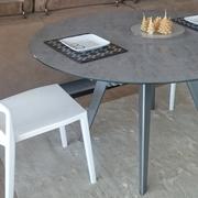 Tavolo Eurosedia Argo Rotondi Rotondi allungabili Vetro