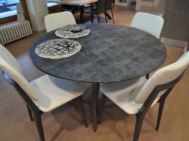 Sedie Per Tavolo Di Vetro.Tavolo In Vetro Serigrafato Con Sedie In Ecopelle