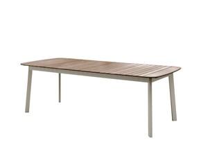 Tavolo fisso con piano in teak Shine Emu a prezzo ribassato