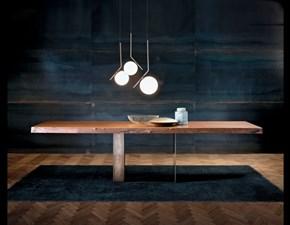 Tavolo fisso Design in ottone e legno corteccia luxury Md work a prezzo scontato