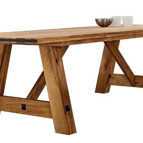 Tavolo fisso in legno massello di rovere 250 cm tavoli a - Tavoli in legno prezzi ...