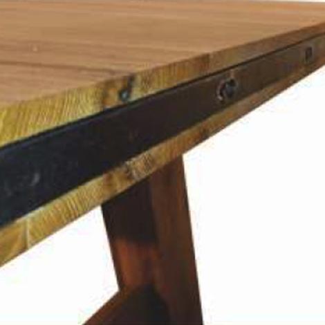 Tavolo fisso in legno massello di rovere 250 cm tavoli a prezzi scontati - Tavolo in legno massello prezzi ...
