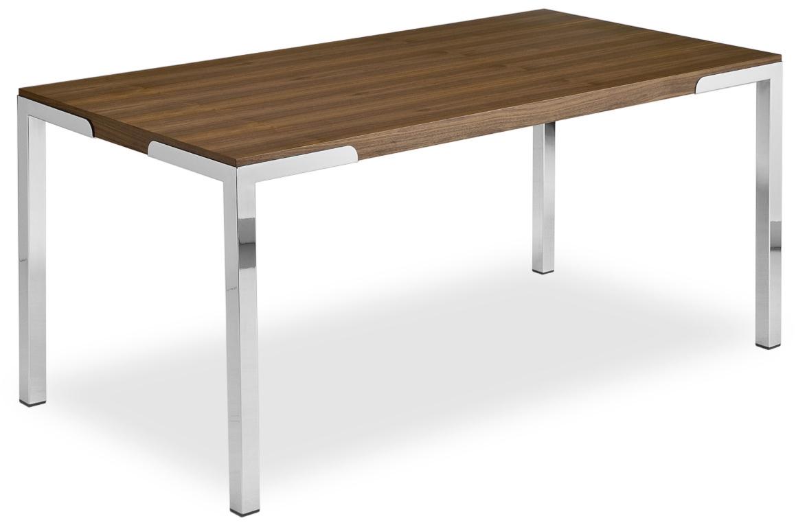 Tavolo fisso in metallo e piano bianco o impiallacciato - Tavolo legno e metallo ...