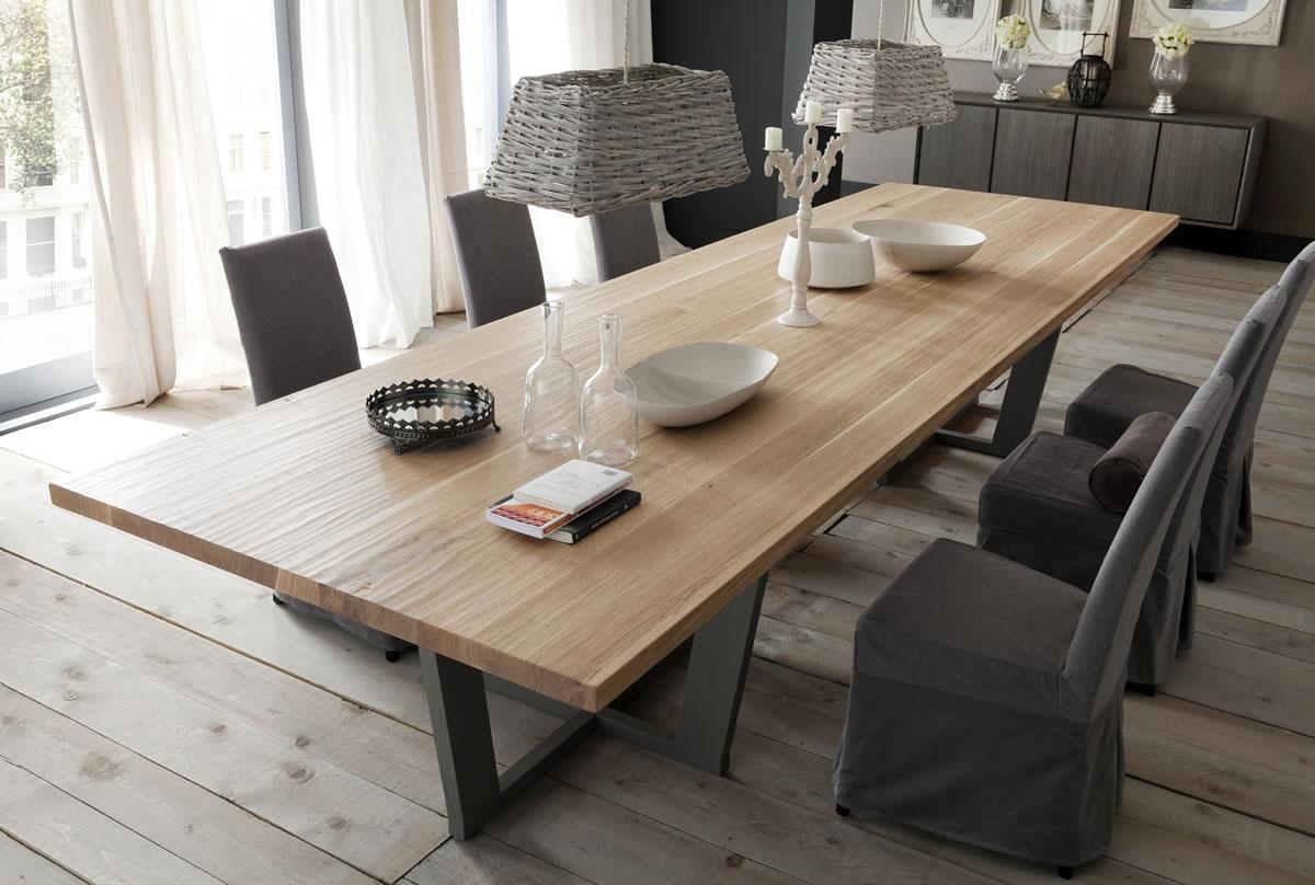 Tavolo fisso paris in rovere massello tavoli a prezzi scontati - Tavolo legno massello ...
