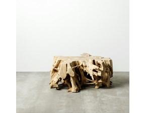 Tavolo fisso Tavolino legno naturale Denzzo a prezzo scontato