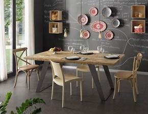 Tavolo fisso Tavolo in legno di ontano design moderno mottes mobili Artigianale a prezzo ribassato
