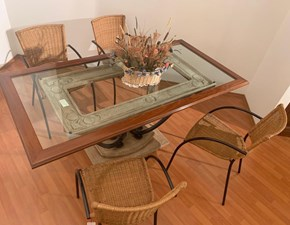 Tavolo fisso Tavolo stone glass Artigianale a prezzo ribassato