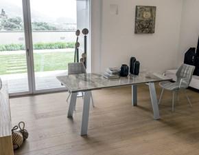 Tavolo Giove 180 Mottes selection in vetro Rettangolare allungabile