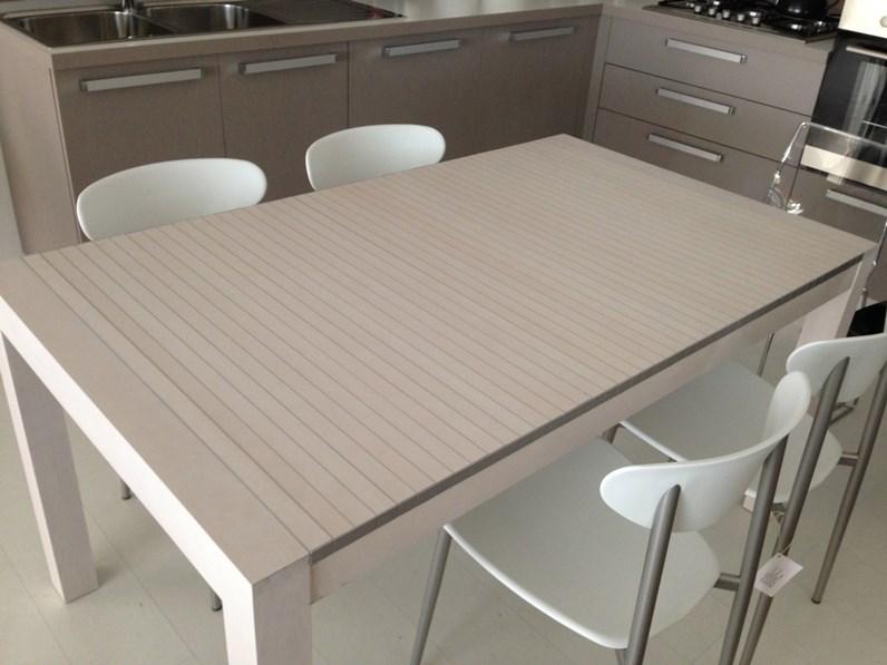 Tavolo horm allungabile astor in faggio e alluminio for Horm arredamenti