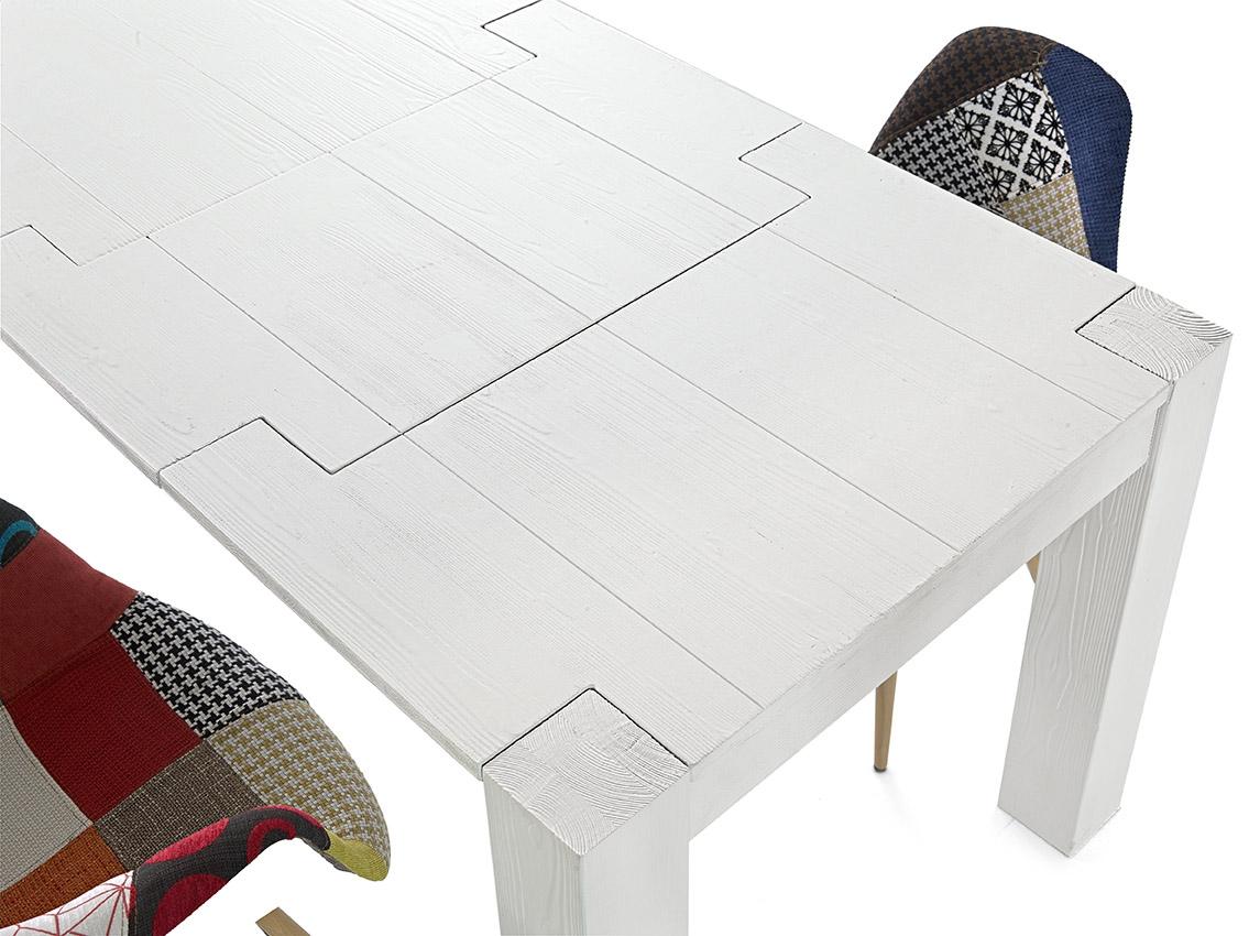 Tavolo abete bianco rettangolari rettangolari allungabili - Tavoli regolabili in altezza prezzi ...