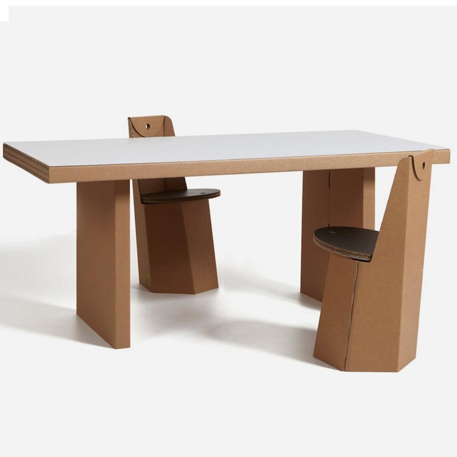 Tavolo in cartone atlante di kubedesign scontato del 35 - Mobili di cartone design ...