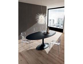 Tavolo in ceramica ovale Ruud La primavera in offerta outlet