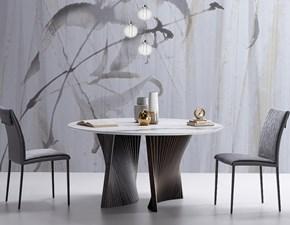 Tavolo in ceramica ovale Shell marmo Natisa a prezzo ribassato