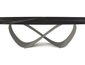 Tavolo in ceramica rettangolare Butterfly keramik  Cattelan a prezzo scontato
