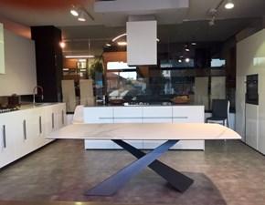 Tavolo in ceramica rettangolare Living ceramica - piano a botte Riflessi in Offerta Outlet