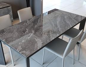 Tavolo in ceramica rettangolare Metro Ozzio in offerta outlet