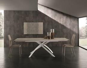 Tavolo in ceramica rettangolare Twist allungabile Zamagna a prezzo ribassato