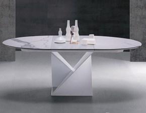 Tavolo in ceramica rotondo Cube a  Natisa in Offerta Outlet