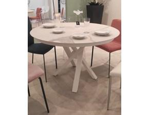 Tavolo in ceramica rotondo Round Riflessi in offerta outlet