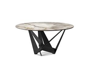 Tavolo in ceramica rotondo Skorpio keramik round Cattelan a prezzo scontato