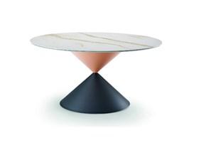 Tavolo in ceramica rotondo Tavolo tempo crestalceramica made in italy Md work a prezzo scontato