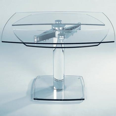 Tavolo in cristallo allungabile advance in offerta tavoli a prezzi scontati - Tavolo pranzo cristallo ...
