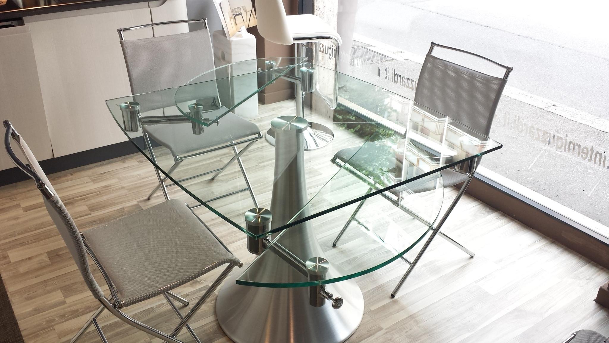 Tavolo flute allungabile vetro tavoli a prezzi scontati for Tavoli allungabili calligaris cristallo