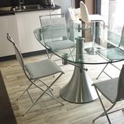 tavolo artigianale diametro 120 allungabile in legno stile