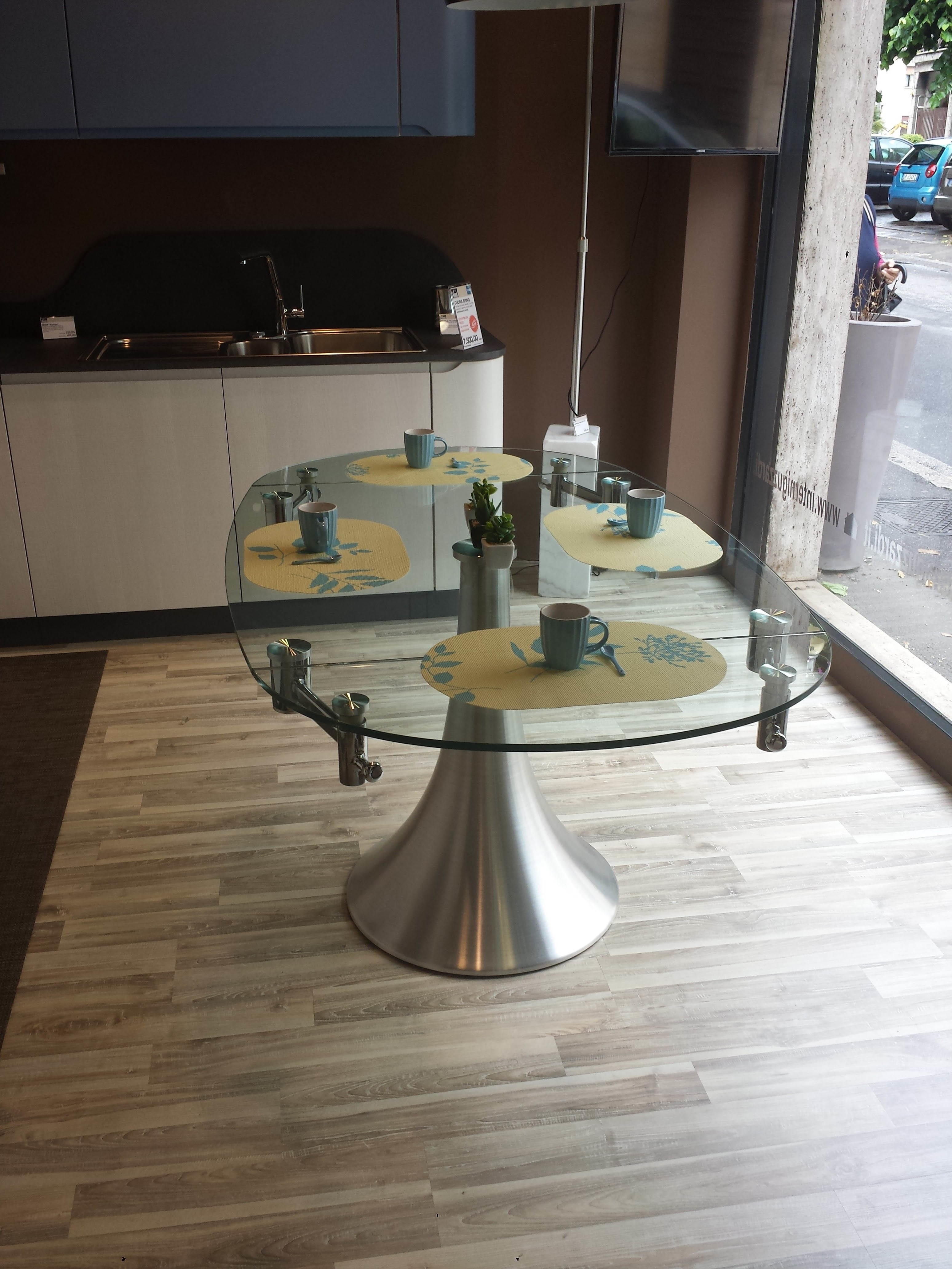 Tavolo in cristallo allungabile tavoli a prezzi scontati - Tavolo cristallo ...