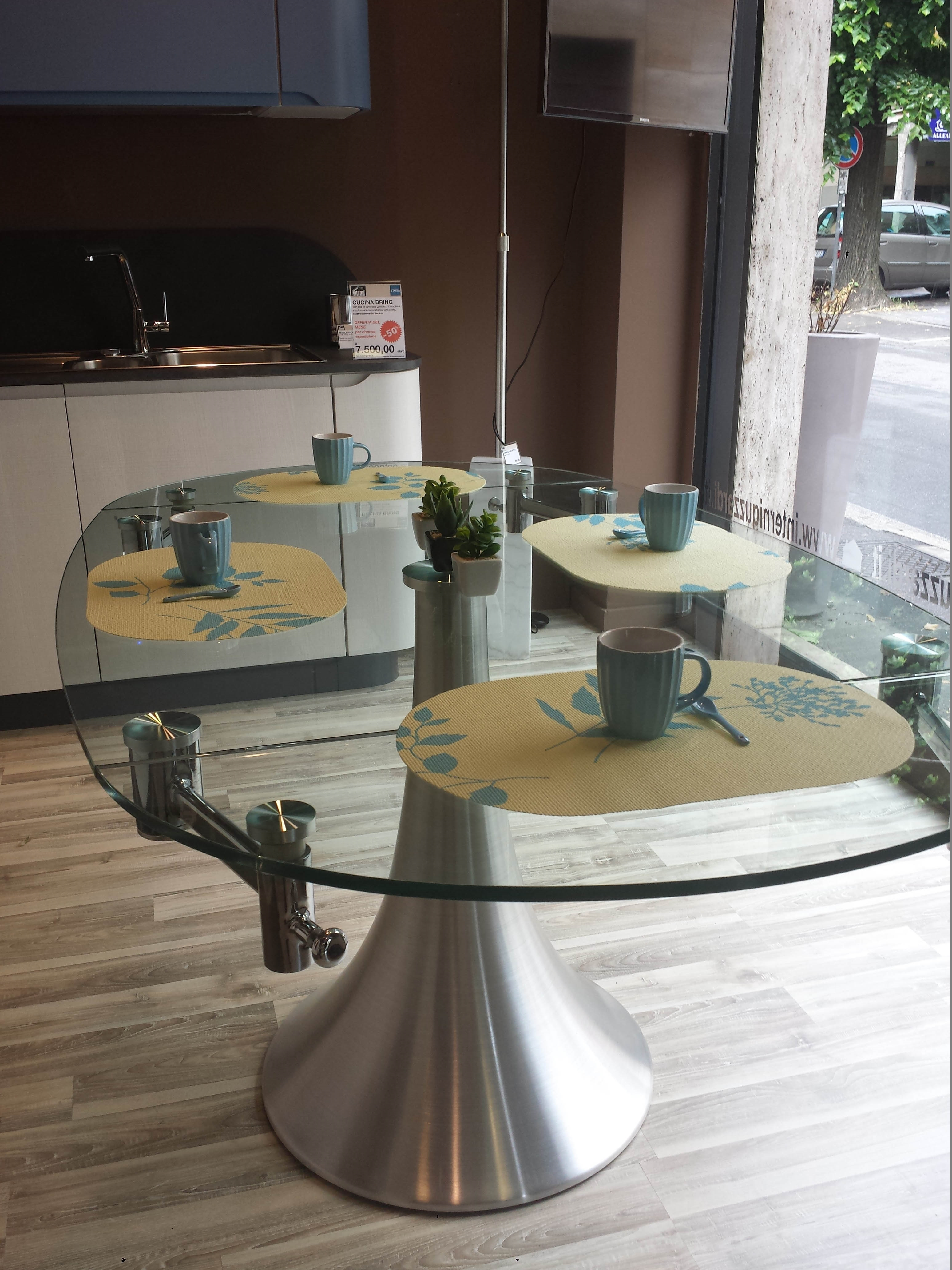 Tavolo in cristallo allungabile tavoli a prezzi scontati - Tavolo in cristallo allungabile ...