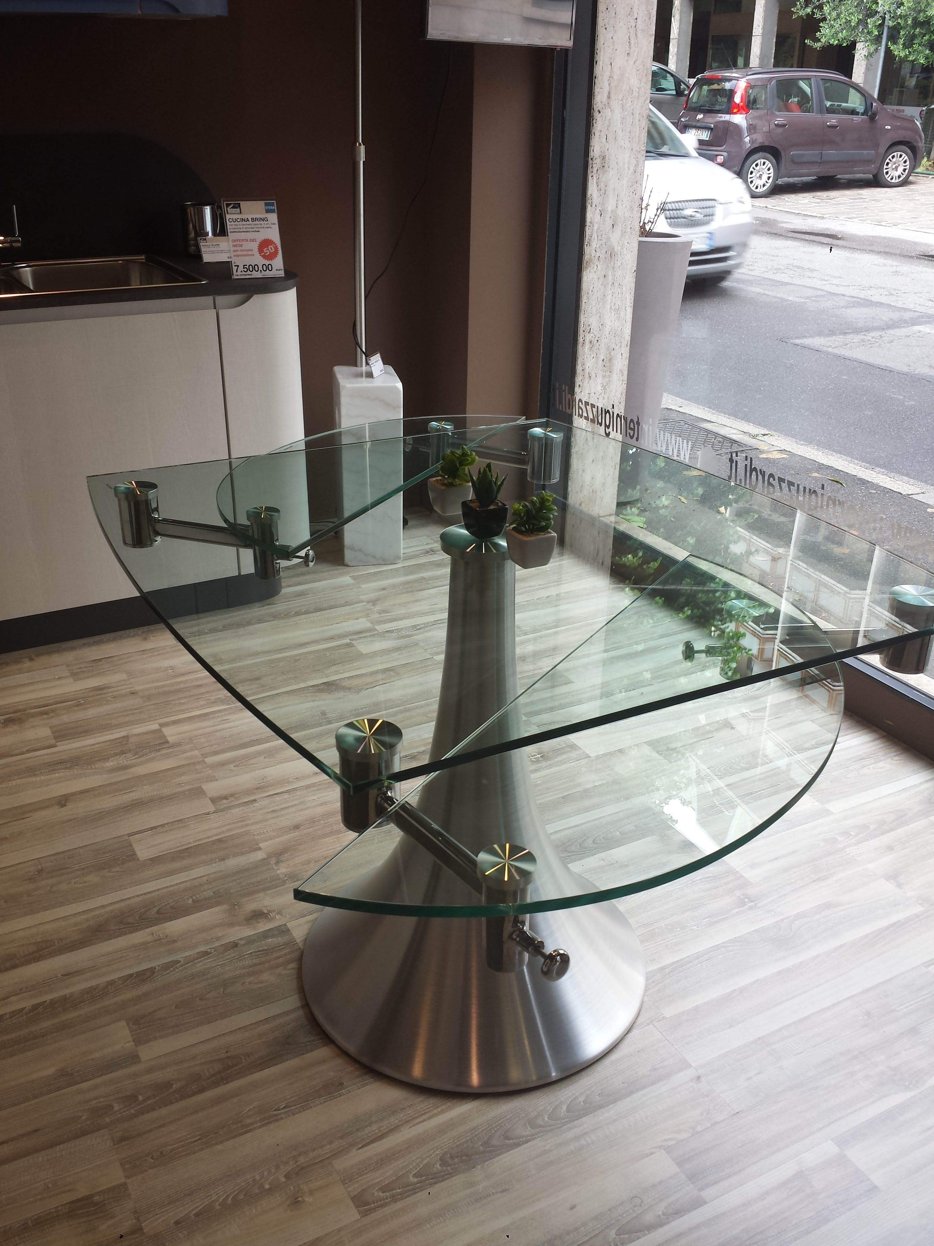 Tavolo in cristallo allungabile tavoli a prezzi scontati for Tavoli in vetro allungabili prezzi