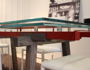Tavolo in cristallo  allungabile