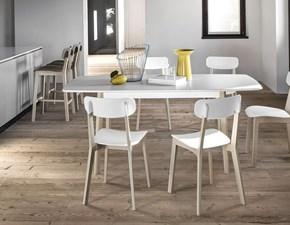 Tavolo in laccato rettangolare Cream Calligaris in offerta outlet