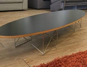 Tavolo in laminato ellittico Linea 180x60 Artigianale in offerta outlet