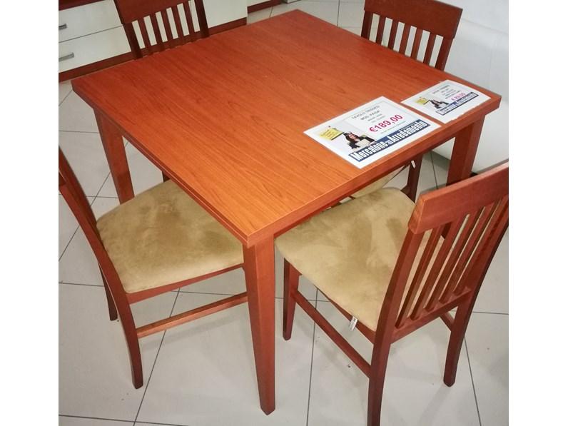 Tavolo in laminato quadrato mod pais 90x90 180 a prezzo for Mercatone dell arredamento di fizzonasco