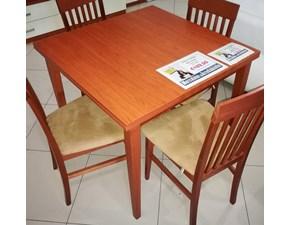 Tavolo in laminato quadrato Mod. Paisà 90x90/180  a prezzo ribassato