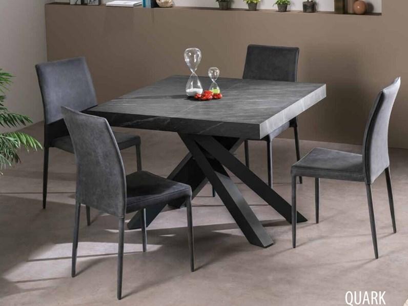 Tavolo in laminato quadrato quark 105 idema casa a prezzo for Piani domestici di 2000 piedi quadrati